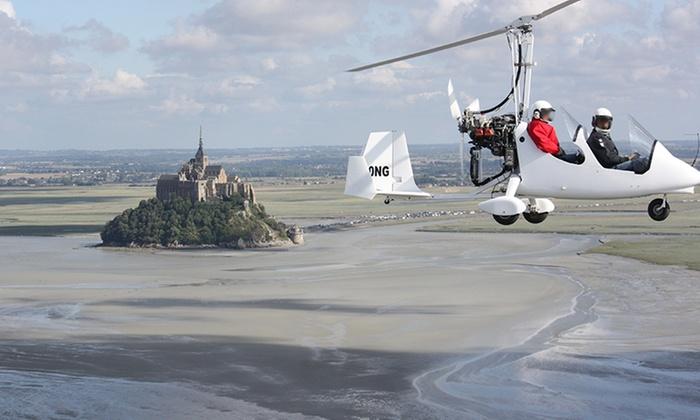 Vol en ULM en baie du Mont Saint Michel, falaises de Champeaux, baie de Cancale, plages, Granville dès 50 €