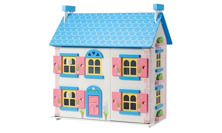 Classic Wooden Doll's House with Optional 20Piece Furniture Set and Six Dolls With Free Delivery