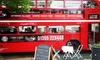 Red Bus Bistro - Multiple Locations: Vintage Bus Tour of Edinburgh or Glasgow with Gourmet Burger or Deli Board for Two with Red Bus Bistro (34% Off)