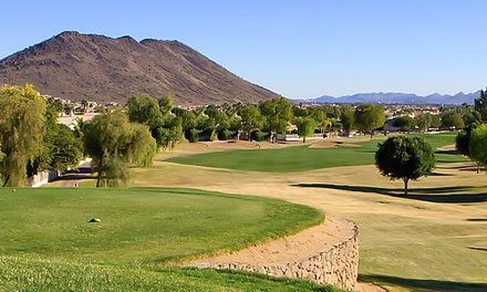 18-Hole Round of Golf for One, Two, or Four with Cart and Range Balls at The Legend at Arrowhead (Up to 54% Off)