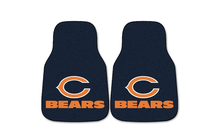 Chicago Bears Carpeted 2-Piece Car Mat Set: Chicago Bears Carpeted 2-Piece Car Mat Set