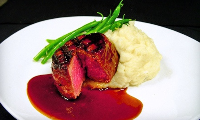 Elevation Chophouse & Skybar - Acworth-Kennesaw (on Cobb County Airport): Steak, Seafood, and Drinks for Two, Four, or More at Elevation Chophouse & Skybar (Half Off)