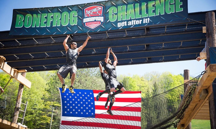 The Bone Frog Challenge - Raceway Park: Registration for a 5K Mud Run from The Bone Frog Challenge (Up to 44% Off)