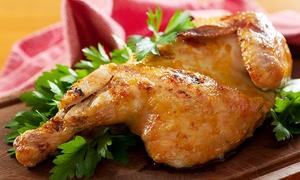 PSK Gaststätte Zur Südstadt: Halbes Hähnchen XL mit Pommes frites und Schnaps oder Espresso für Zwei oder Vier in der PSK Gaststätte Zur Südstadt