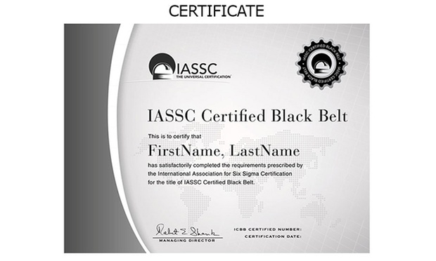 six sigma black belt certificate template - lean six sigma certification groupon goods