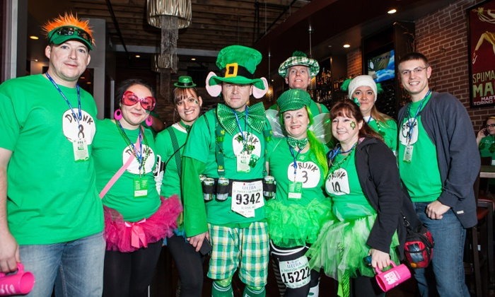 St. Patty's Pub Crawl - Tiki Bob's: Saint Patty's Day Pub Crawl for One or Four on Saturday, March 15 from My Drink On  (57% Off)