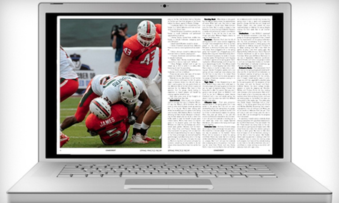 """""""CaneSport Magazine"""": $19 for a One-Year Digital Subscription to """"CaneSport Magazine"""" ($44.95 Value)"""