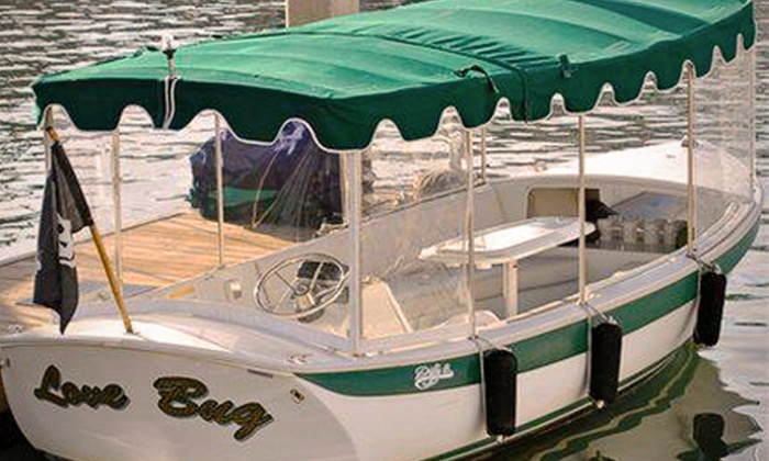 Pirates Life Boat Rental - Newport Beach: 1.5, 2-, or 2.5-Hour Electric Boat Rental for Up to Eight from Pirates Life Boat Rental (Up to 56% Off)