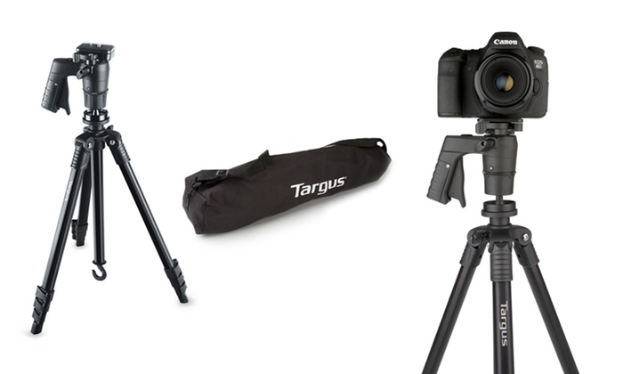 "Targus Black Label 360° Trigger 54"" Tripod: Targus Black Label 360° Trigger 54"" Max Height Tripod with a Carrying Case (TG-TB154-101). Free Returns."