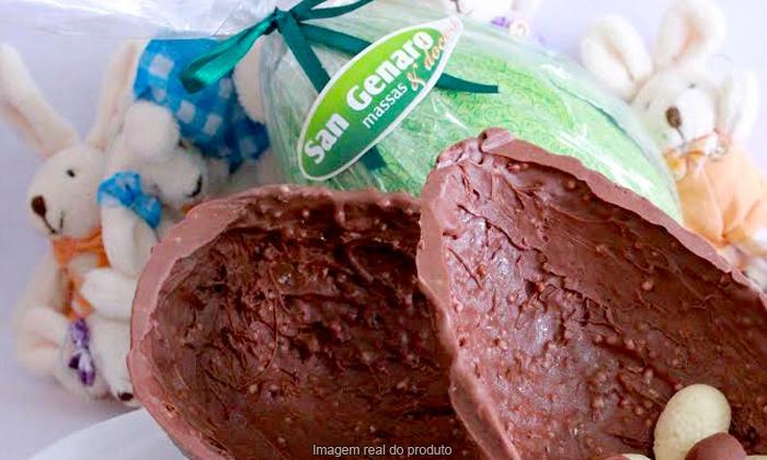 San Genaro Massas - São José dos Campos: San Genaro Massas – Jardim Esplanada: 1 ovo de Páscoa com 540 ou 930 g, a partir de R$ 25,90