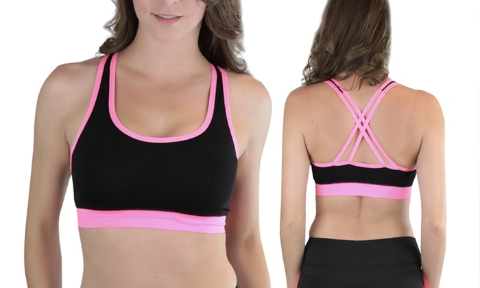 493114850a003 Strappy Criss-Cross Sports Bras (4-Pack)