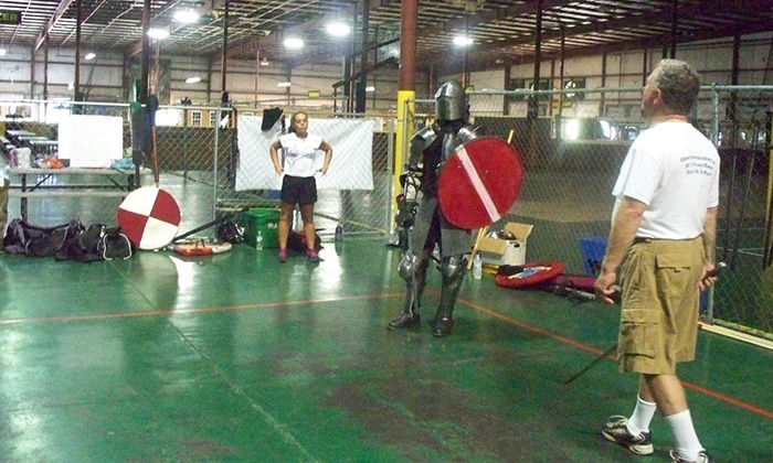 Chivalry Sports Academy - Conway East: One Month of Sword-Fighting Classes or Basic Membership Pass at Chivalry Sports (Up to 69% Off)