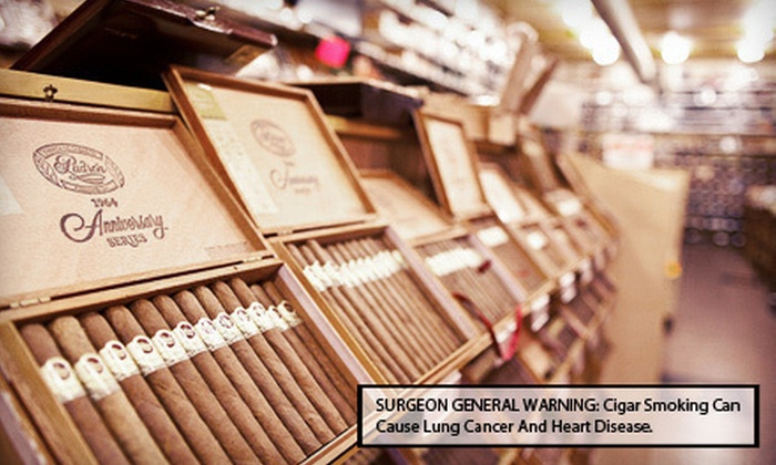 Jenuwine Cigar Lounge - Multiple Locations: $15 for $30 Worth of Cigars and Smoking Accessories at Jenuwine Cigar Lounge