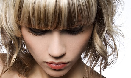 Haircut with Optional Color or Partial Highlights or Keratin Treatment at Sub-Image Beauty Salon (Up to 67% Off)