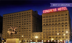 19th-Century Hotel in Downtown Chicago at The Congress Plaza Hotel, plus 6.0% Cash Back from Ebates.