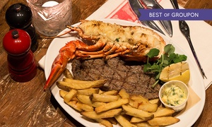 28 West Bar & Grill: Steak and Lobster For Up to Four at 28 West Bar & Grill (30% Off)