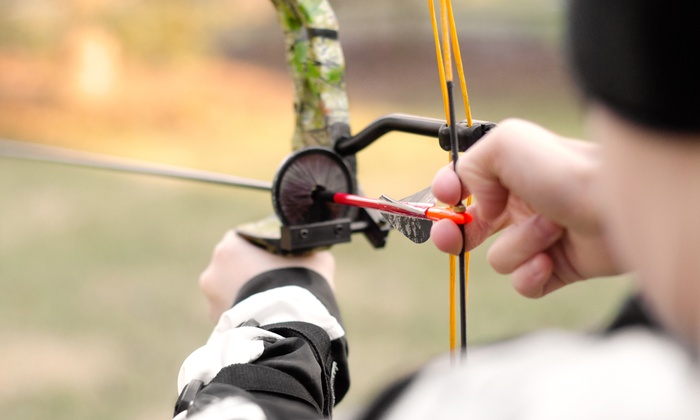 Connecticut Archery - Quinnipiac Meadows: Archery Package with Lesson, Range Time, and Equipment for Two or Eight at Connecticut Archery (Up to 54% Off)