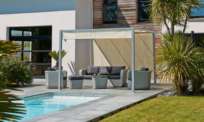 pergola rideau coulissant store coffre vertical motoris toile pvc crystal ferrari sur mesure. Black Bedroom Furniture Sets. Home Design Ideas