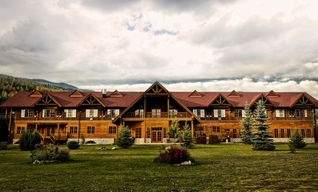 Log-Cabin Resort in the Mountains of British Columbia