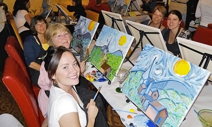 Wine and Canvas: $23 for One Painting Class from Wine and Canvas San Francisco - Bay Area ($35 Value)