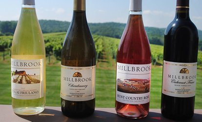 image for Wine Tasting and Glass of Wine for Two, Four, or Six at Millbrook Winery (Up to 60% Off)