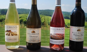 Millbrook Winery: Winery Tour and Tasting for Two, Four, or Six with Wine Glasses at Millbrook Winery (Up to 50% Off)