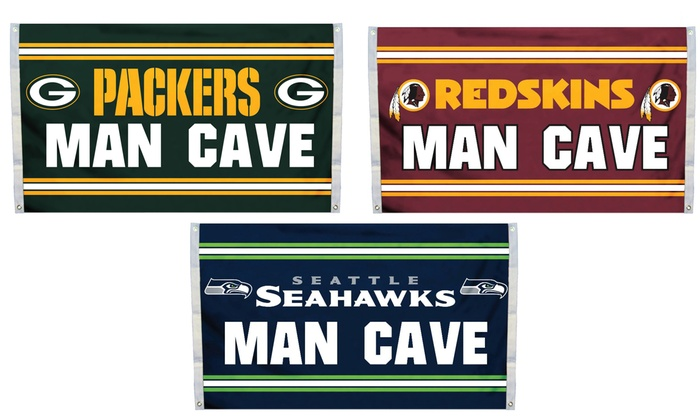 Man Cave Gifts Coupon Code : Nfl man cave flag x groupon goods