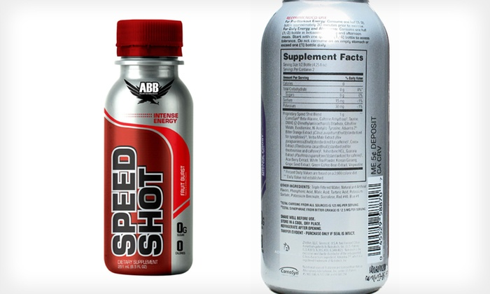 Abb Performance Speed Shot 12-Pack: $21.99 for an Abb Performance Speed Shot 12-Pack ($25.08 List Price). Three Flavors Available. Free Shipping.