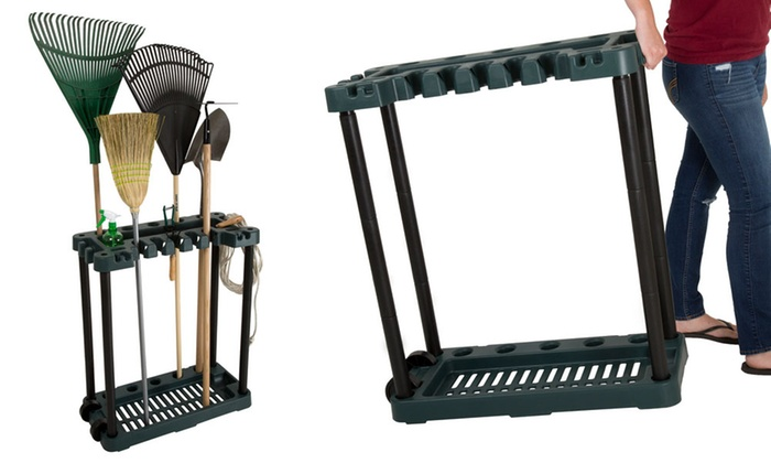 up to 40 off on stalwart garden tool rack tower groupon goods. Black Bedroom Furniture Sets. Home Design Ideas