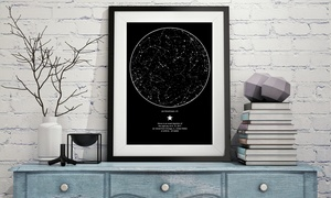 My Sky Moment : Personalised Map of The Stars from My Sky Moment (72% Off)