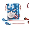 Captain America or Iron Man Noise-Isolating Earphones and Travel Pouch