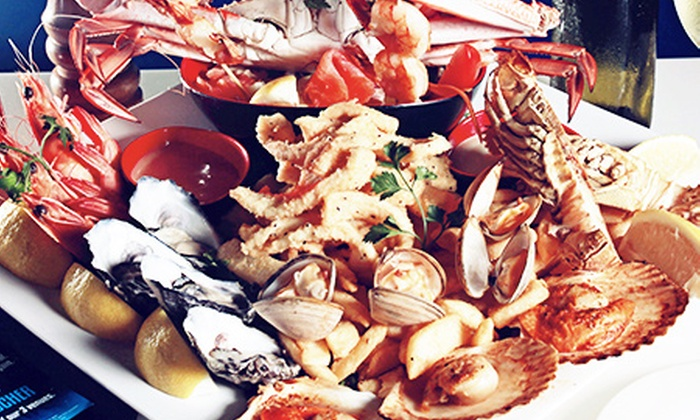 Yellowfin Restaurant - Broadbeach: $49 Seafood Platter for Two People or $59 to Add a Bottle of Wine at the Awarded Yellowfin Restaurant (Up to $149 value)