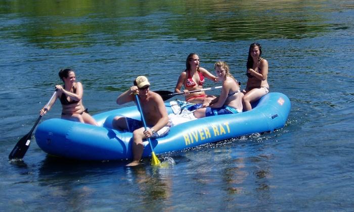 River Rat Raft & Bike - Fair Oaks: $38 for a Four-Person-Raft Rental from River Rat Raft & Bike ($55 Value)