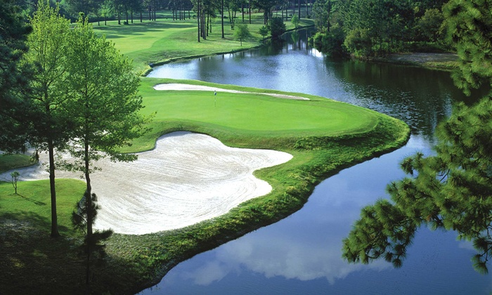 Golden Bear Golf Club - Hilton Head Island: 18-Holes of Golf with Cart Rental and Range Balls for Two or Four at Golden Bear Golf Club (Up to 64% Off)