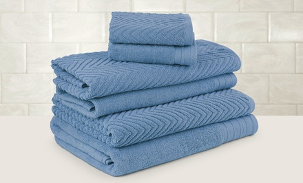 Chateau Spa 100% Egyptian-Cotton Jacquard 6-Piece Towel Set