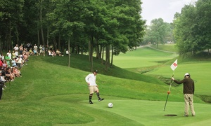 River Ridge Golf Course: Round of FootGolf for Two, Four, or Eight with Ball Rentals at River Ridge Golf Club (Up to 52% Off)