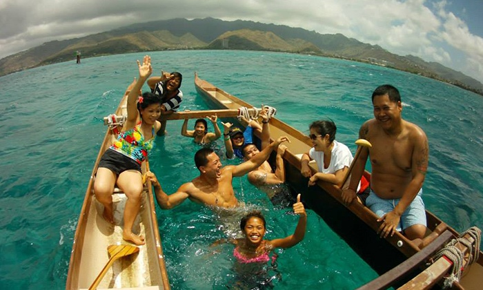 Hawaiian Surf Adventures - Hawaii Kai: Two-Hour Outrigger-Canoe Lesson and Tour for One or Two from Hawaiian Surf Adventures (Up to 54% Off)