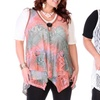 Lily by Firmiana Plus-Size Sleeveless Open-Knit Top
