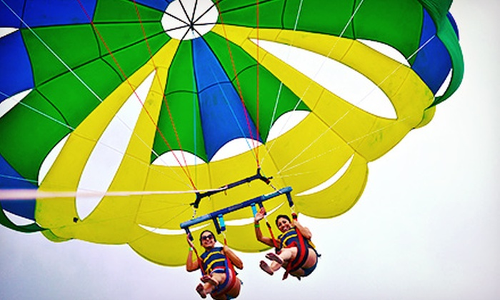 Miami Beach Ocean Watersports - Virginia Key: $59 for Tandem Parasailing with Miami Beach Ocean Watersports ($150 Value)