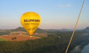 Ballon Crew Sachsen: Wertgutschein über 100 € oder 200 € anrechenbar auf eine Ballonfahrt für 1 oder 2 Personen mit der Ballon Crew Sachsen