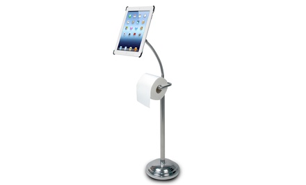 iPad Pedestal Stand with Toilet-Paper Holder