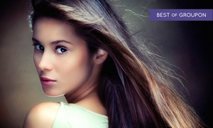 Salon Adagio: Haircut and Hair Treatment with Optional Color Retouch or Highlights at Salon Adagio (Up to 54% Off)