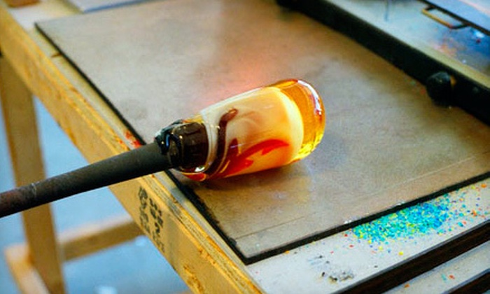 Aurora Borealis Glassworks - Arroyo Del Oso North: $125 for a Half-Day Introductory Glass-Blowing Class at Aurora Borealis Glassworks ($250 Value)