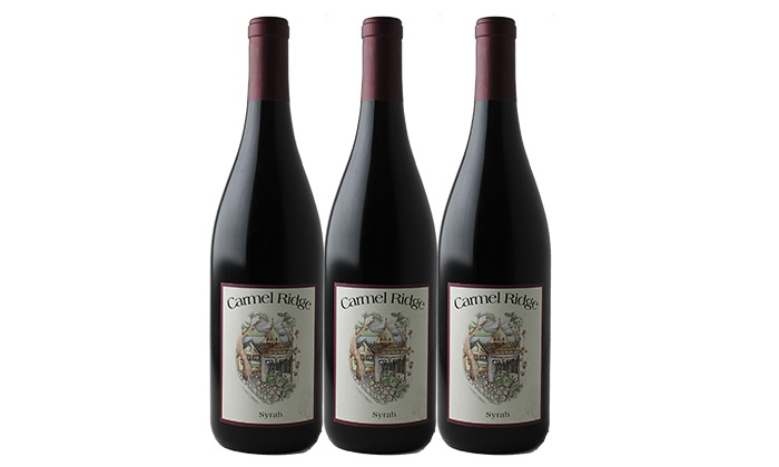 Splash Wines: $45 for Three Bottles of Carmel Ridge Syrah with Free Shipping from Splash Wines ($133.95 Value)