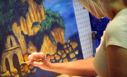 3-Hour Wine-and-Painting Evening for 1 (a $110 value) - The Art Loft Wine Bar in Little Rock