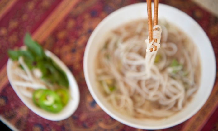 Chow Pho Noodle & Grill - Valley View: $12 for Two Groupons, Each Good for $10 Worth of Vietnamese Cuisine at Chow Pho Noodle & Grill ($20 Total Value)
