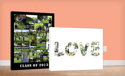 "groupon daily deal - 16""x20"" Custom Photo-Collage Canvas from Collage.com"
