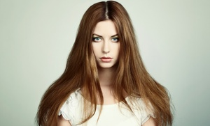 Bangs Salon: Brazilian Blowout, or Haircut with Highlights or a Split-End Treatment at Bangs Salon (Up to 60% Off)