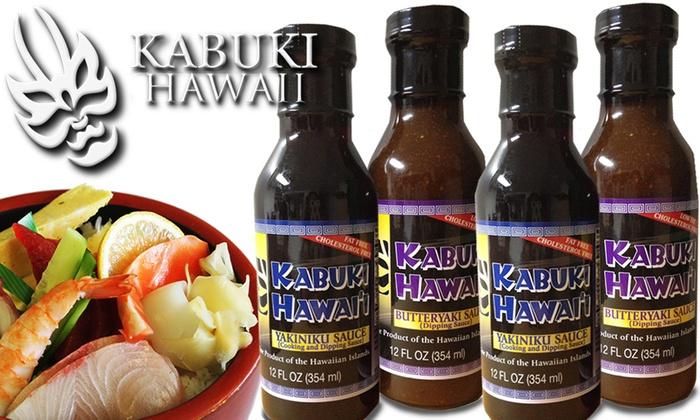 Kabuki Restaurant - Ala Moana - Kakaako: $13.95 for Four 12-Oz. Bottles of Kabuki Restaurant's Signature Sauces ($27.90 Value)