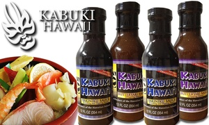 Kabuki Restaurant-Kapiolani: $14 for Four 12-Ounce Kabuki Hawaii Signature Sauces at Kabuki Restaurant ($28 Value)